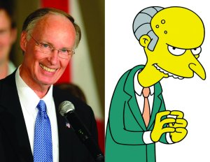 See Montgomery Burns as Robert Bentley in House of Cards: Sweet Home Alabama.